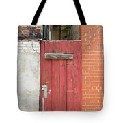 Red Alley Door Chinatown Washington Dc Tote Bag by Edward Fielding