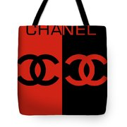 Red And Black Chanel Tote Bag