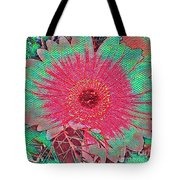 Red And Green Bloom Tote Bag