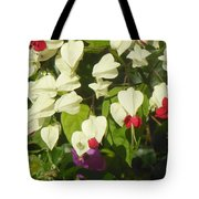 Red And White Surprise 2 Tote Bag