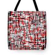 Red Black White Geometric Tote Bag