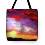 Red Clouds Tote Bag
