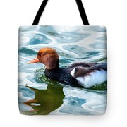 Red Crested Red Beak Red Eye Duck Tote Bag