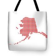 Red Dot Map Of Alaska Tote Bag