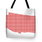 Red Dot Map Of Arizona Tote Bag