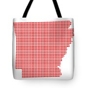 Red Dot Map Of Arkansas Tote Bag