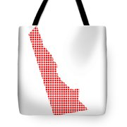 Red Dot Map Of Delaware Tote Bag