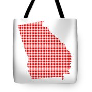 Red Dot Map Of Georgia Tote Bag
