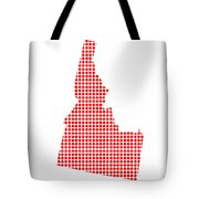 Red Dot Map Of Idaho Tote Bag