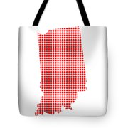 Red Dot Map Of Indiana Tote Bag