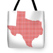 Red Dot Map Of Texas Tote Bag