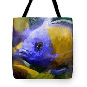 Red Fin Borleyi Cichlid Artwork Tote Bag by Don Northup