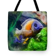 Red Fin Borleyi Cichlid Tote Bag by Don Northup