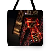 Red For Ted At The Convention Centre Tote Bag by Ross G Strachan