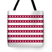 Red Heart Tote Bag by Douglas K Limon