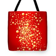 Red Party Bubble Background Tote Bag