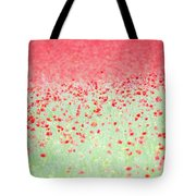 Red Poppies In A Meadow Tote Bag