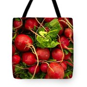 Red Radishes Tote Bag