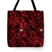 Red Spider Bokeh Pattern Tote Bag