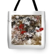 Red Splashes Tote Bag
