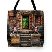 Red Temple Tote Bag by Jaroslaw Blaminsky