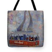 Red Tram Tote Bag