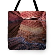 Reflection Of Cliffs In Water Tote Bag
