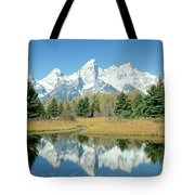 Reflection Of Mountains In Water, Grand Tote Bag