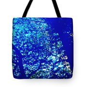 Reflection On A Blue Automobile 3 Tote Bag