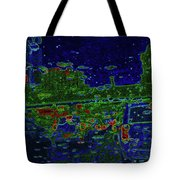 Reflections Of A Green Land Tote Bag