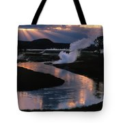 Reflections On The Firehole River Tote Bag