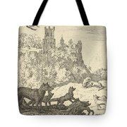 Renard Leaves With The Badger Tote Bag