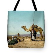 Rest In The Syrian Desert, 19th Century Tote Bag
