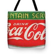 Retro Coke Sign Tote Bag