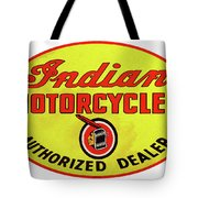Retro Indian Motorcycles Tote Bag