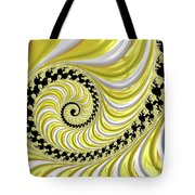 Ribbed Yellow Spiral Tote Bag