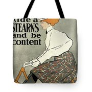 Ride A Stearns And Be Content, Circa 1896 Tote Bag