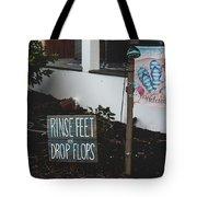 Rinse Feet And Drop Flops Tote Bag
