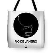 Rio De Janeiro Black Subway Map Tote Bag