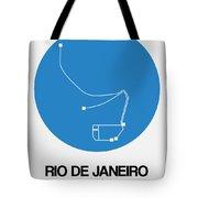 Rio De Janeiro Blue Subway Map Tote Bag