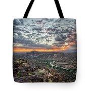 Rio Grande River Sunrise 2 - White Rock New Mexico Tote Bag