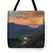 Rio Grande River Sunset Tote Bag