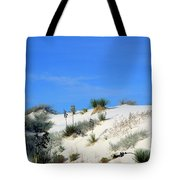 Rippled Sand Dunes In White Sands National Monument, New Mexico - Newm500 00106 Tote Bag