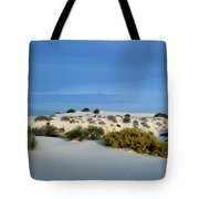 Rippled Sand Dunes In White Sands National Monument, New Mexico - Newm500 00114 Tote Bag