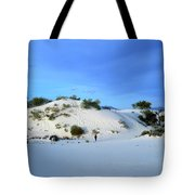 Rippled Sand Dunes In White Sands National Monument, New Mexico - Newm500 00119 Tote Bag