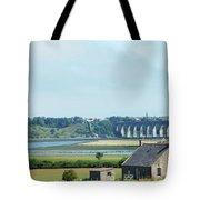 river and bridge towards Berwick upon Tweed scotland Tote Bag