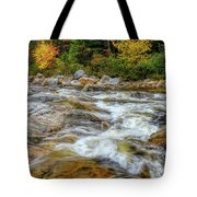 River Cross, Swift River Nh Tote Bag by Michael Hubley
