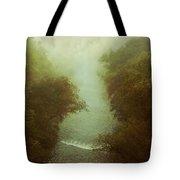 River In Fog Tote Bag