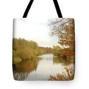 river Teviot at dusk Tote Bag