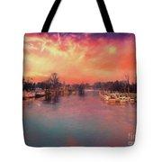 River Thames At Molesey Tote Bag